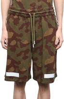 Off-White Camouflage Cotton Shorts