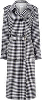 Sonia Rykiel Multi Gingham Wool Trench Coat