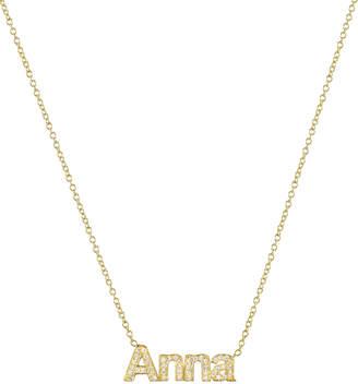 Zoe Lev Jewelry Personalized 14k Diamond Name Necklace
