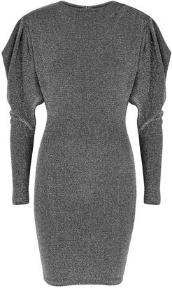 Isabel Marant Waden Metallic-weave Mini Dress