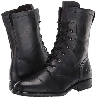 Børn Neon (Black Full Grain Leather) Women's Lace-up Boots