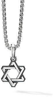 David Yurman Men's Deco Star of David Sterling Silver Pendant
