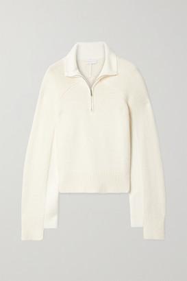Rosetta Getty Cropped Two-tone Cotton-blend Sweater - Cream