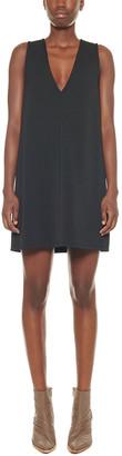 Tibi Frisse Deep V-Neck Short Dress