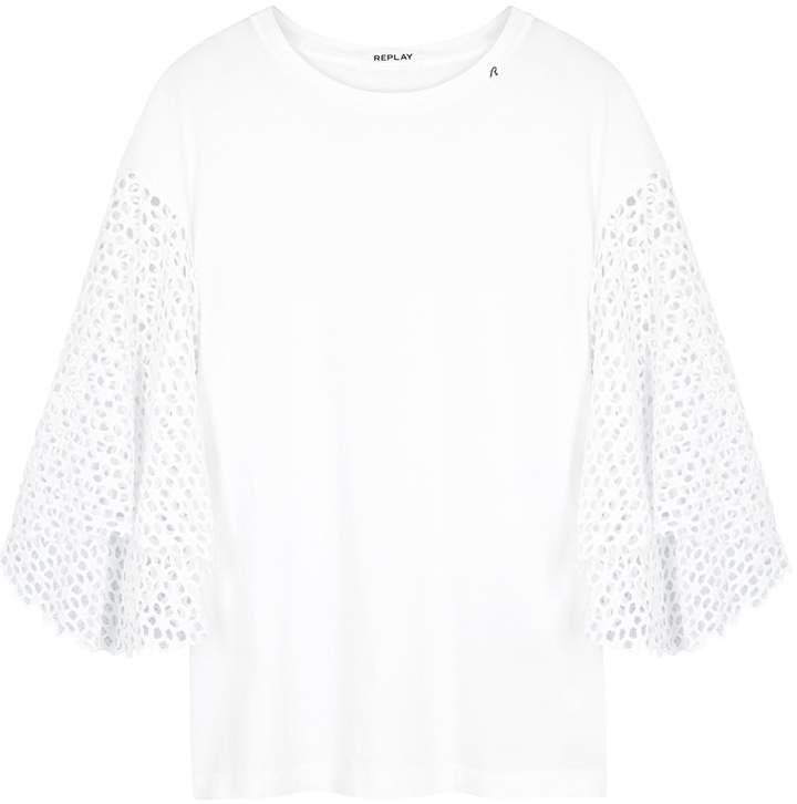 e395e12241282d White Broderie Anglaise Shirt - ShopStyle UK
