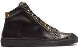 Balmain High-top Leather Trainers