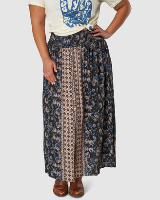 The Poetic Gypsy - Women's Black Maxi skirts - Galaxy Print Skirt - Size One Size, 10 at The Iconic