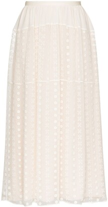 Chloé Lace Midi Skirt