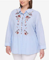 Tommy Hilfiger Plus Size Cotton Embroidered Shirt