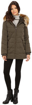 DKNY 3/4 Quilted Anorak w/ Leather Details 82510-Y5
