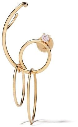 Ana Khouri 18kt yellow gold Camille sapphire single earring