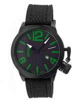 Breed Black & Green Falcon Swiss Watch