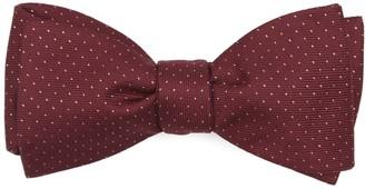 The Tie Bar Flicker Burgundy Bow Tie