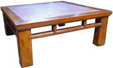 One Kings Lane Vintage Coffee Table with Woven Rattan Top - FEA Home