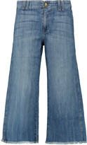 Thumbnail for your product : Current/Elliott Cropped Mid-rise Flared Jeans