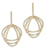 Gottex 18k Plated Cz Earrings.
