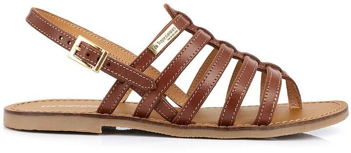 Herilo Leather Flat Sandals