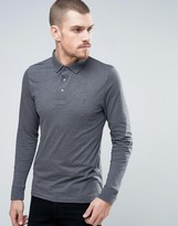 French Connection Slim Fit Long Sleeve Jersey Polo