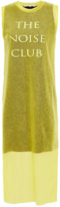 McQ Jacquard-knit Midi Dress