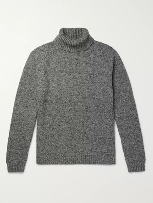 The Row Asher Melange Camel Hair-Blend Rollneck Sweater