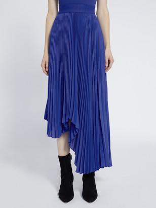 Alice + Olivia Koryn Asymmetrical Midi Skirt