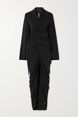 Rick Owens Abito Jersey Wrap Maxi Dress - Black
