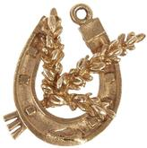 Annina Vogel Gold Wheat Horseshoe Charm