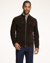Le Château Suede Slim Fit Moto Jacket