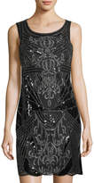 LM Collection Sequin Beaded Sheath Dress