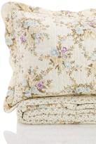 Melange Home Vintage Rose Quilt Set - Lefleur Blue