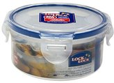 Lock & Lock Round Storage Container, 300 ml - Clear/Blue