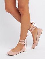 Charlotte Russe Lace-Up Ballet Flats
