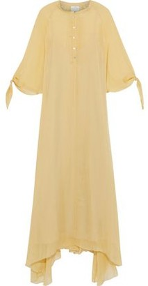 Forte Forte Asymmetric Silk-voile Maxi Dress