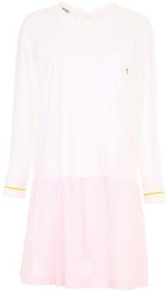 Miu Miu Cotton Jersey Dress With Stripes