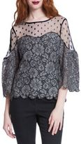 Plenty by Tracy Reese Three-Quarter Bell Sleeve Lace Blouse