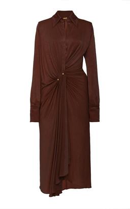 Dodo Bar Or Lorenne Ruched Satin-Jersey Dress