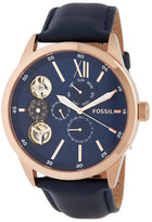 Fossil Men's Flynn Chronograph Leather Strap Watch