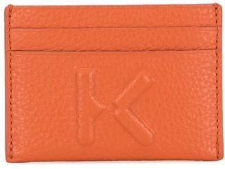 Kenzo Embossed-Logo Leather Cardholder