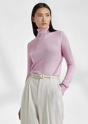 Ralph Lauren Lacquered Turtleneck Sweater