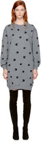 McQ Grey Micro Swallow Sweatshirt Dress