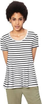 Amazon Brand - Daily Ritual Women's Jersey Short-Sleeve Scoop Neck Swing T-Shirt