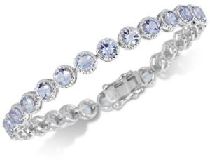 Macy's Tanzanite Rope-Framed Link Bracelet (12 ct. t.w.) in Sterling Silver