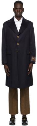 Gucci Navy Eco Cashmere Coat