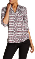 Foxcroft Interlock Geo 3/4 Length Sleeve Shirt