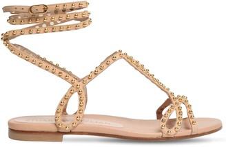 Stuart Weitzman 10mm Leya Embellished Suede Sandals