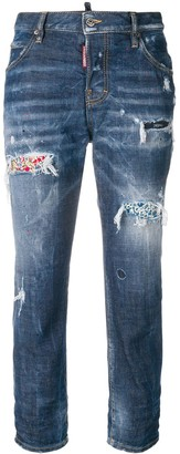 DSQUARED2 Cool Girl cropped distressed jeans