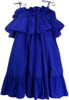 MSGM Ruffle Detail Cocktail Dress