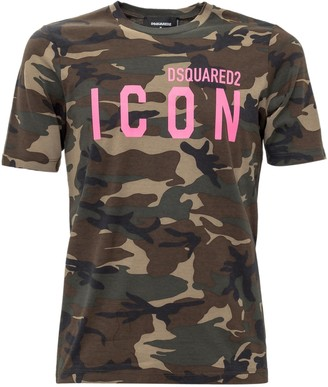 DSQUARED2 Camouflage Icon T-Shirt