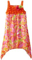 Rare Editions Girls 7-16 Orange Print Dress