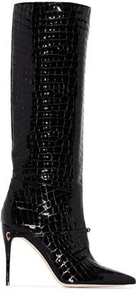 Jennifer Chamandi Cece 105mm crocodile-embossed boots